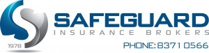 Safeguard Insurance Brokers logo with phone number